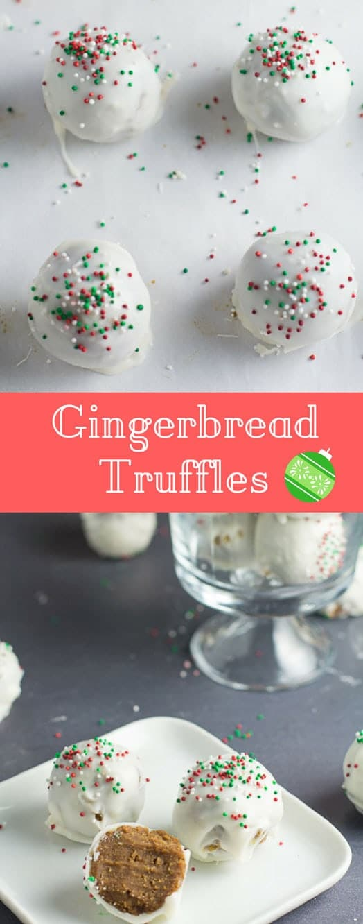 These gingerbread truffles are super easy to make. It's not your average gingerbread cake, so each bite packs a punch - perfect for all you gingerbread lovers out there! #gingerbreadtruffles #gingerbread #christmasbaking | bakedujour.com