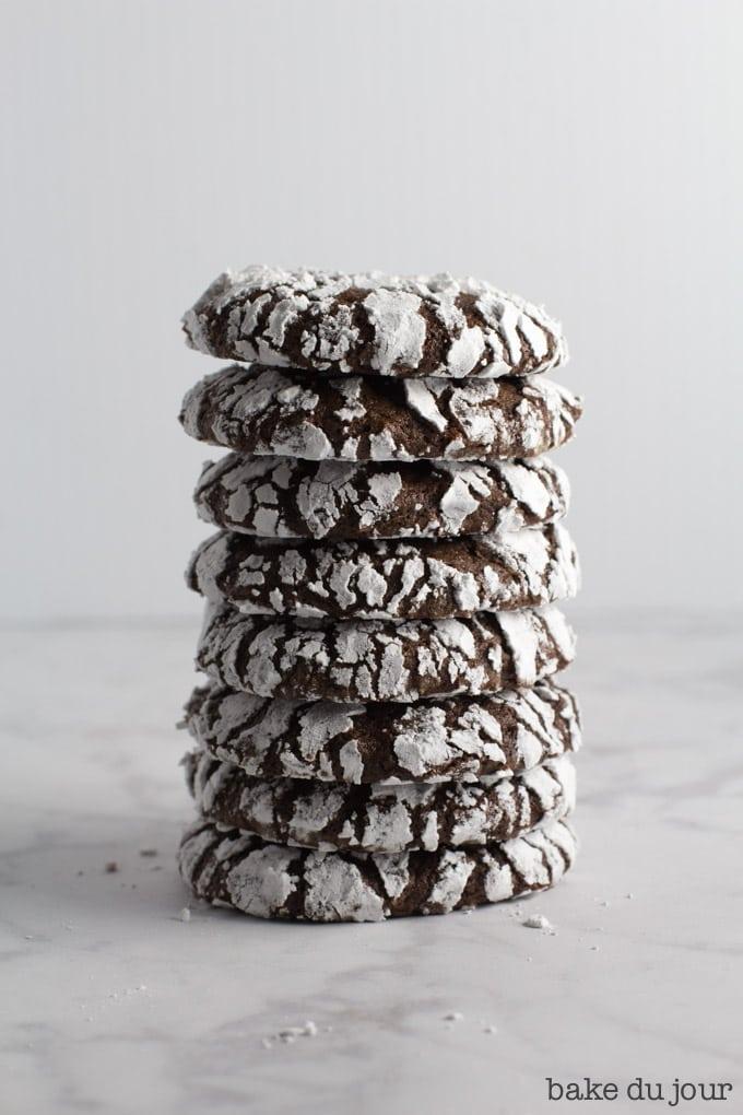 The Best Chocolate Crinkle Cookies
