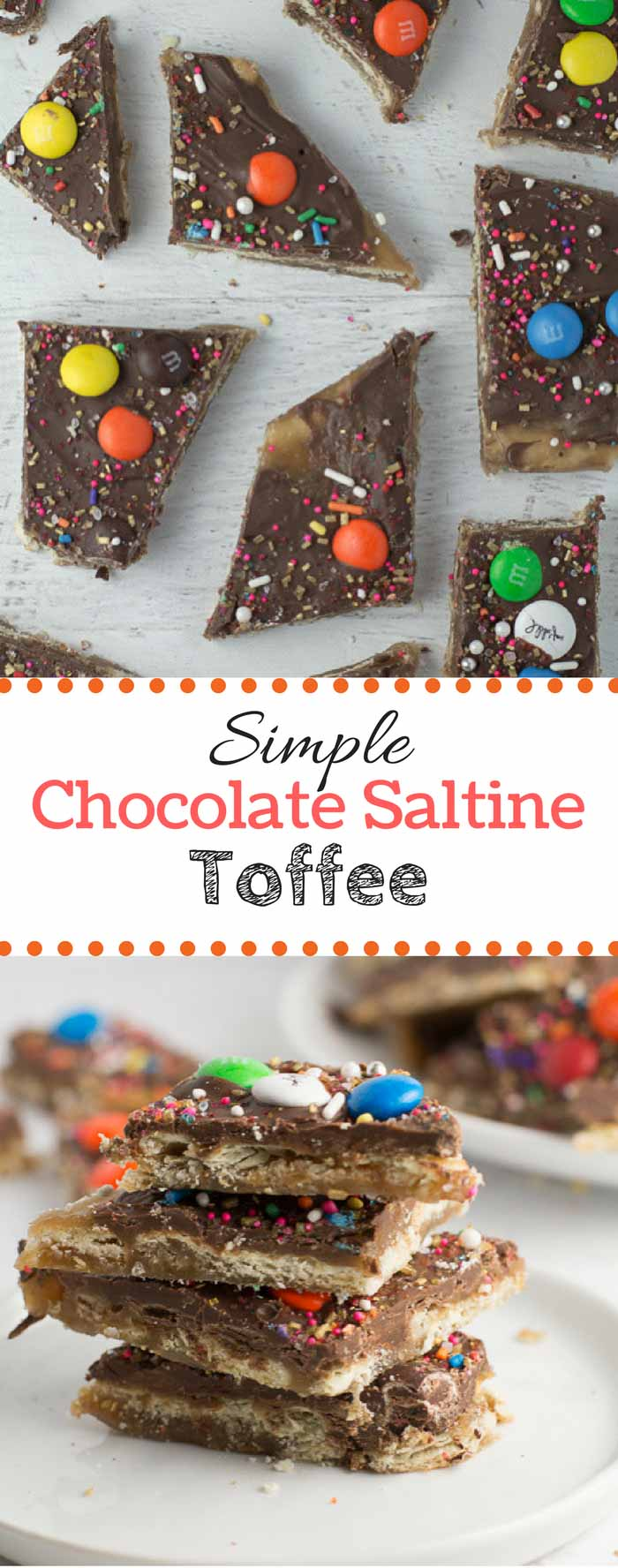 The rich flavors of milk chocolate and toffee come together to make this Chocolate Saltine Toffee! Perfect for when you've got some saltine crackers laying around! #saltinetoffee #toffeebark #saltinetoffee #easydessert #toffee | bakedujour.com