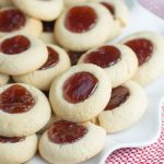 Strawberry Jam Thumbprint Cookies