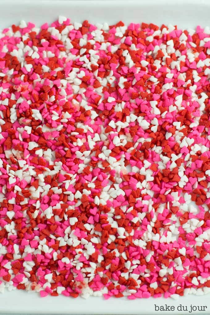 Valentine's Day heart sprinkles