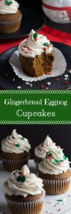 Gingerbread Eggnog Cupcakes