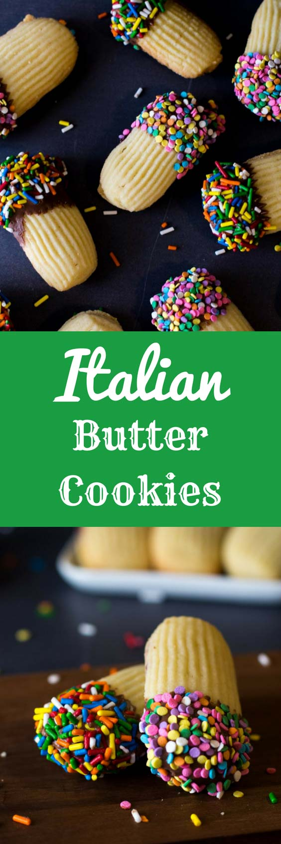 With just a few simple ingredients, you'll be able to make these bakery-style Italian Butter Cookies right at home. And for a real treat, you can make jam sandwiches out of them and dip them in chocolate! #cookies #italianbuttercookies #italiancookies #buttercookies #spritzcookies | bakedujour.com