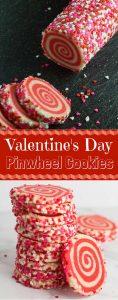 Valentine's Day Pinwheel Cookies