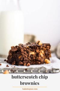 Butterscotch Chip Brownies Pinterest Graphic